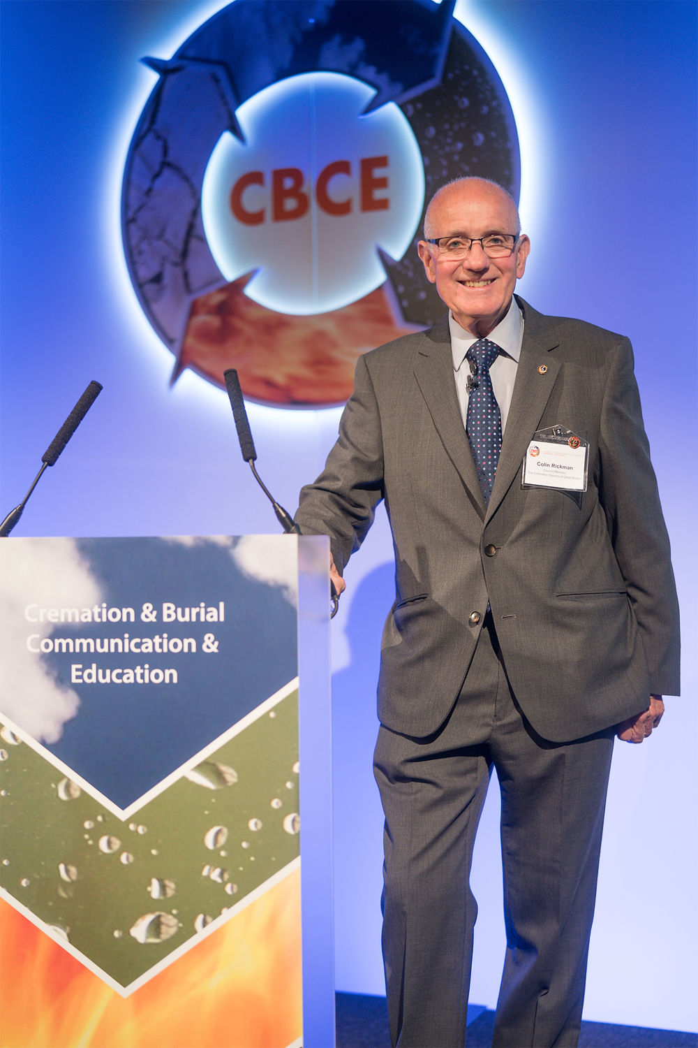 Colin Rickman - Council member of The Cremation Society of Great Britain